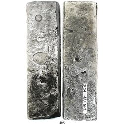 Neatly formed silver ingot, 1922 grams, about 98.5% fine, with stamps of the Zeeland chamber of the