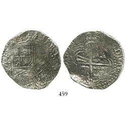 Potosi, Bolivia, cob 8 reales, 1617(M), Grade 2.