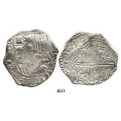 Potosi, Bolivia, cob 8 reales, 1618PAL, rare, Grade 1, ex-Hebert.