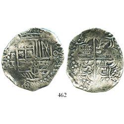Potosi, Bolivia, cob 8 reales, 1619T, choice Grade 1.