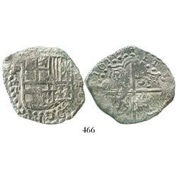 Potosi, Bolivia, cob 8 reales, 1619T, Grade-2 quality, incorrect certificate.