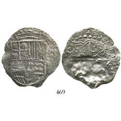 Potosi, Bolivia, cob 8 reales, 1619(T), Grade 3.