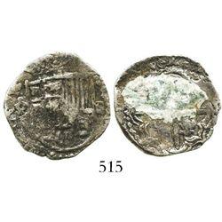 Potosi, Bolivia, cob 2 reales, Philip III, assayer not visible, Grade-1 quality but Grade 4 on certi