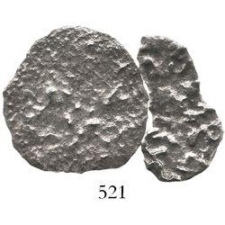 Lot of 2 silver-cob fragments (no Grade).
