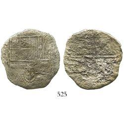 Potosi, Bolivia, cob 8 reales, Philip III, assayer M, Grade 3, with original tag but certificate mis