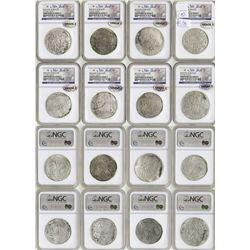 Lot of 8 Potosi, Bolivia, cob 8 reales, Philip II and III, assayers not visible, all Grade 2.