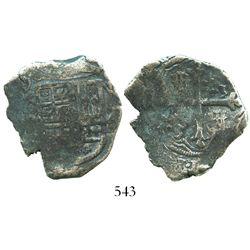 Mexico City, Mexico, cob 4 reales, (162)0(D), rare.