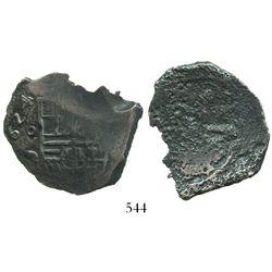 Mexico City, Mexico, cob 4 reales, (1)624D, very bold date (rare thus).