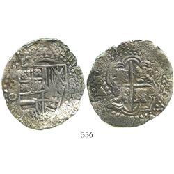 Potosi, Bolivia, cob 8 reales, (1)649O, no countermark (rare).