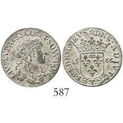 Tassarollo, Italian States, luigino, 1666-T.
