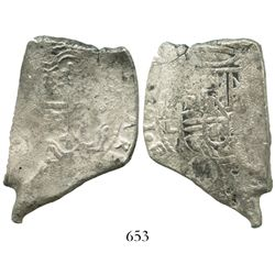 Mexico City, Mexico, cob 8 reales, Charles II, 16(??)L.