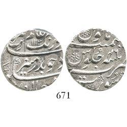 Surat, India (Mughal Empire), 1 rupee, Aurangzeb (1658-1707), AH1113 (1702), Grade 1.