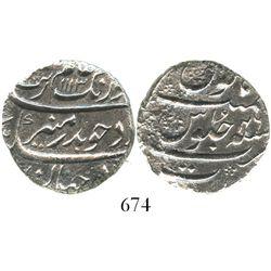 Surat, India (Mughal Empire), 1 rupee, Aurangzeb (1658-1707), AH1113 (1702), Grade 2.