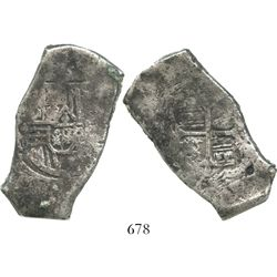 Mexico, City, Mexico, cob 8 reales, Charles II, assayer not visible.
