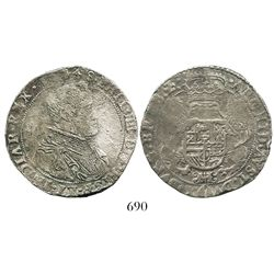 Brabant, Spanish Netherlands (Antwerp mint), portrait 1/2 ducatoon, Philip IV, 1648.