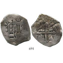 Mexico City, Mexico, cob 8 reales, (17)12J.