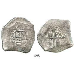 Mexico City, Mexico, cob 8 reales, 1714(J).