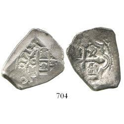 Mexico City, Mexico, cob 4 reales, 1713/2, rare.