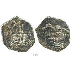 Potosi, Bolivia, cob 8 reales, 1700F, scarce.