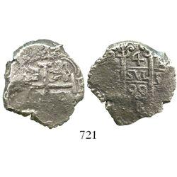 Potosi, Bolivia, cob 4 reales, 1699F, ex-Goodpaster.