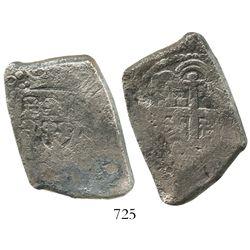 Mexico City, Mexico, cob 8 reales, (172)0(J), rare.