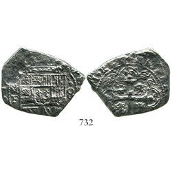 Mexico City, Mexico, klippe 8 reales, 17(33)F.