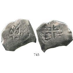 Mexico City, Mexico, cob 8 reales, 1726D, rare.