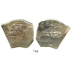 Mexico City, Mexico, cob 8 reales, 1727D, very rare.