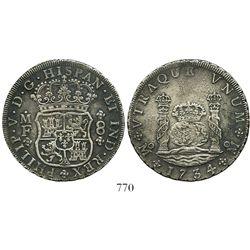 Mexico City, Mexico, pillar 8 reales, Philip V, 1734/3MF.