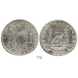 Mexico City, Mexico, pillar 8 reales, Philip V, 1736MF.