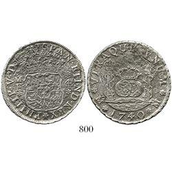 Mexico City, Mexico, pillar 4 reales, Philip V, 1740MF.