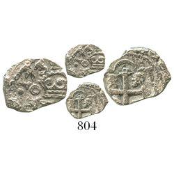 Mexico City, Mexico, cob 1/2 real, 1731(F), rare.