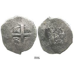 Lima, Peru, cob 8 reales, 1724M.