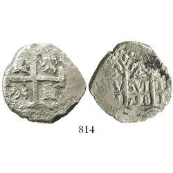 Lima, Peru, cob 4 reales, 1728N, rare.