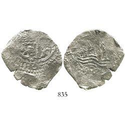 Potosi, Bolivia, cob 4 reales, 1661E.