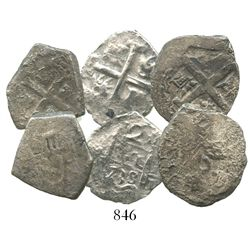 Lot of 3 cob 2R (one Mexico, two Lima, one with 1738 date).