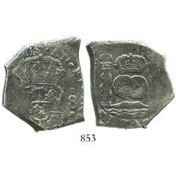 Guatemala, cob 8 reales, 1743(J).