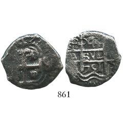 Potosi, Bolivia, cob 4 reales, 1751q.