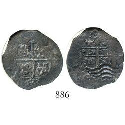 Potosi, Bolivia, cob 2 reales, 1659E, encapsulated NGC Genuine.