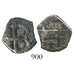 Potosi, Bolivia, cob 1 real, 1749q.