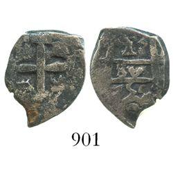 Potosi, Bolivia, cob 1 real, 1755(q).