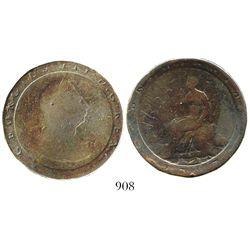 "Great Britain, copper ""cartwheel"" penny, George III, 1797."