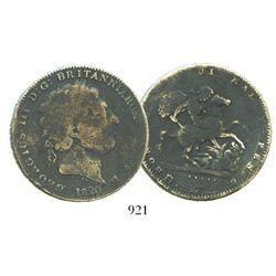 Great Britain, crown, George III, 1820.