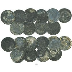 Lot of 10 USA (Philadelphia mint) Barber half dollars, various dates (1901-4), encrusted as found.