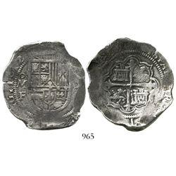 Mexico City, Mexico, cob 8 reales, 1612F, rare.