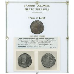 Mexico City, Mexico, cob 8 reales, Philip III, assayer F, with chopmark as from circulation in the O