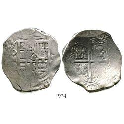 Mexico City, Mexico, cob 8 reales, (16)27D, rare.