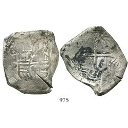 Mexico City, Mexico, cob 8 reales, 1647P, with test-cuts as from circulation in the Orient, rare.