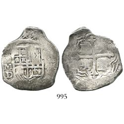 Mexico City, Mexico, cob 4 reales, Philip III, assayer D/F.