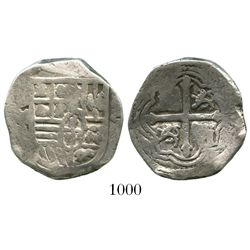 Mexico City, Mexico, cob 4 reales, Philip IV, assayer P.